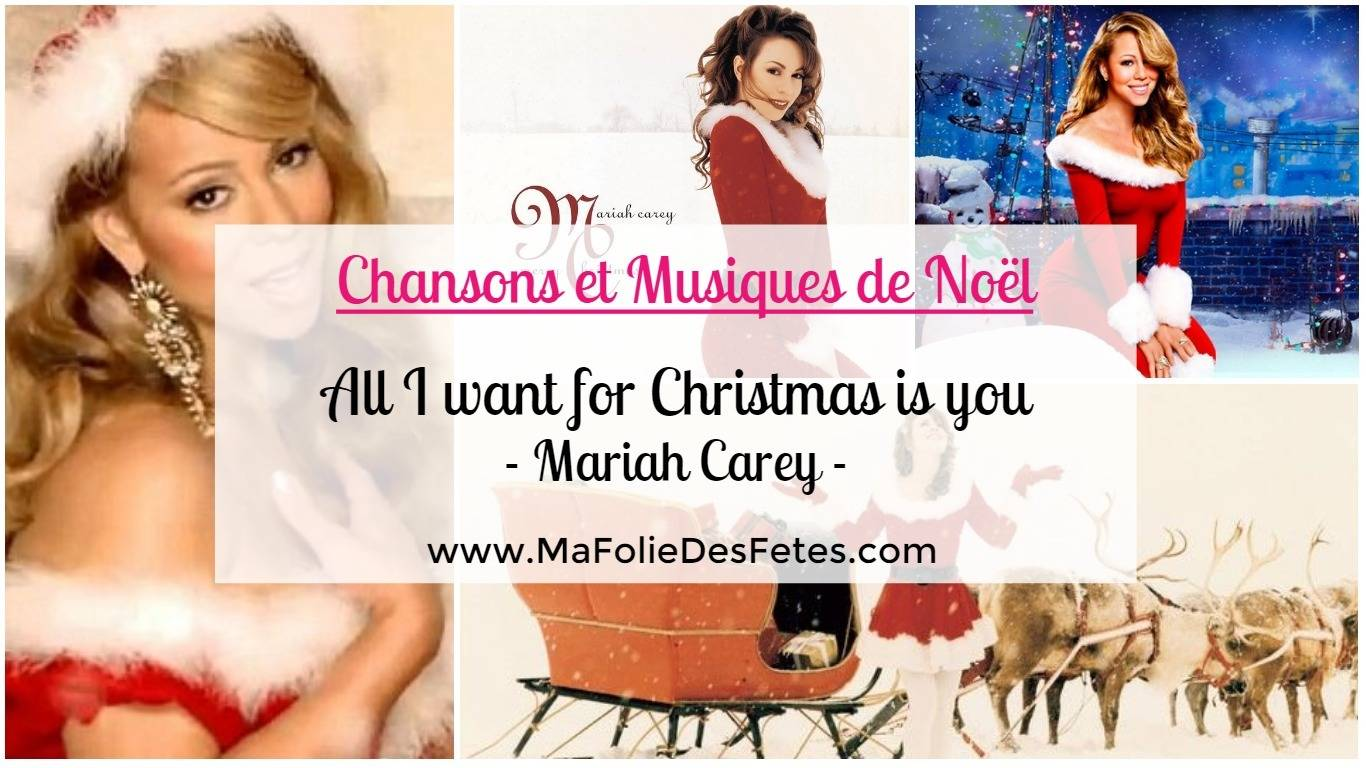 chanson de noel all i want for christmas