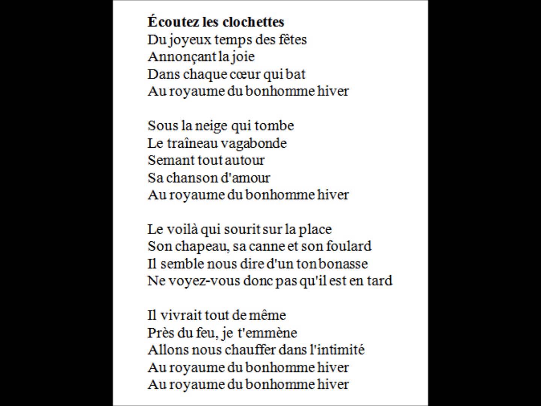 Chanson De Noel Bonhomme Hiver
