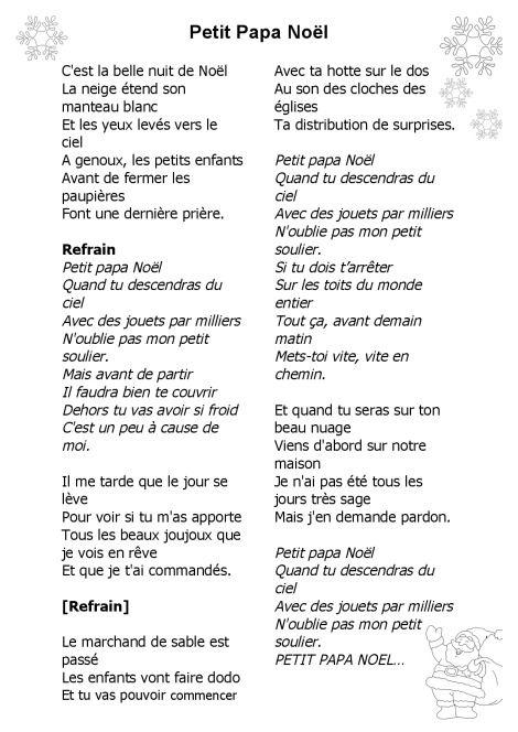 Chanson De Noel Facile A Chanter