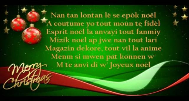chanson de noel haitienne