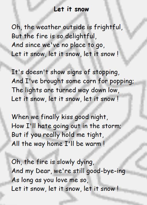 chanson de noel let it snow