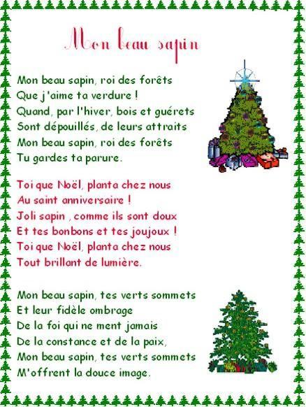 Chanson De Noel Mon Beau Sapin