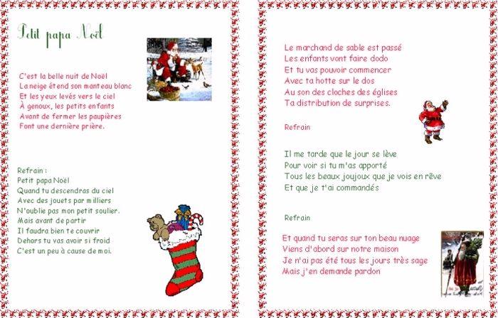 Chanson De Noel Pour Maternelle
