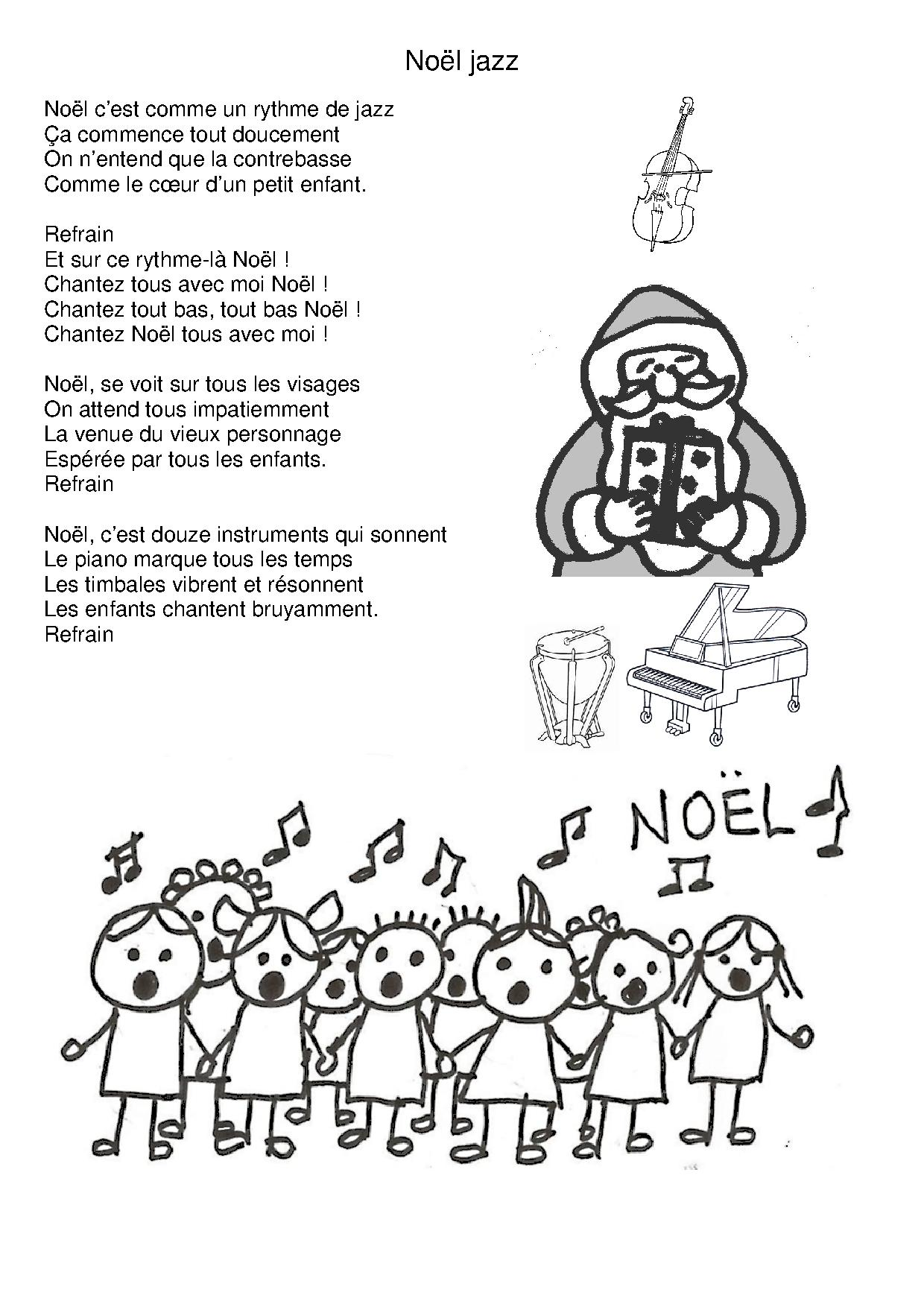 chanson de noel rythme