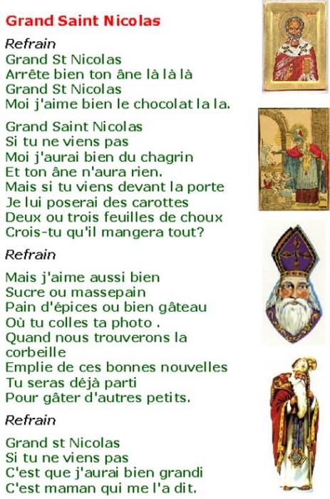 chanson de noel saint nicolas