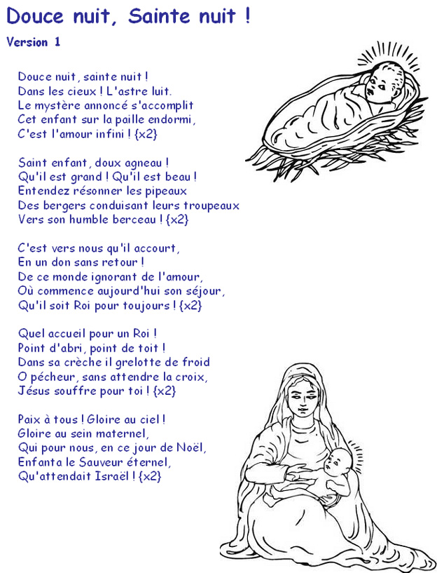 chanson de noel sainte nuit