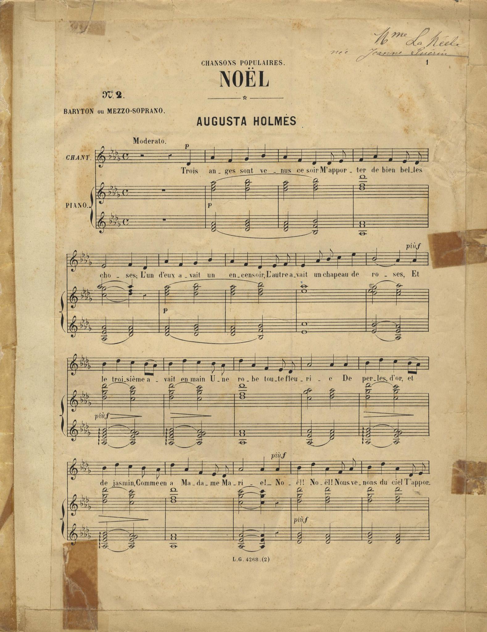 chanson de noel trois anges sont venus ce soir