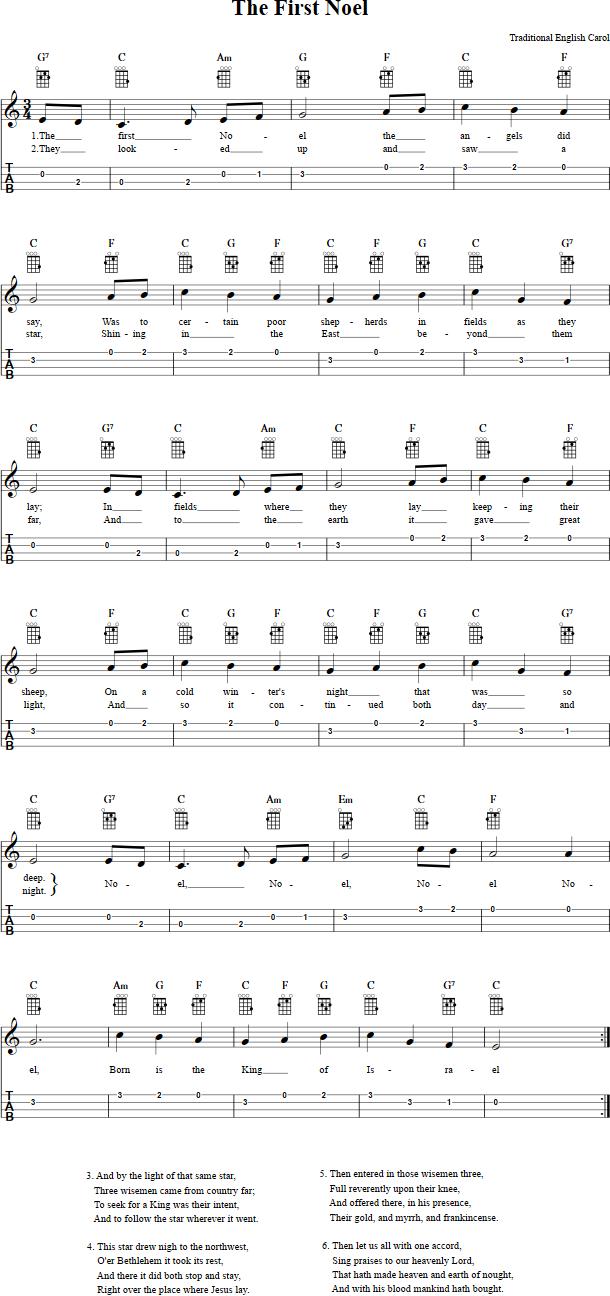 chanson de noel ukulele