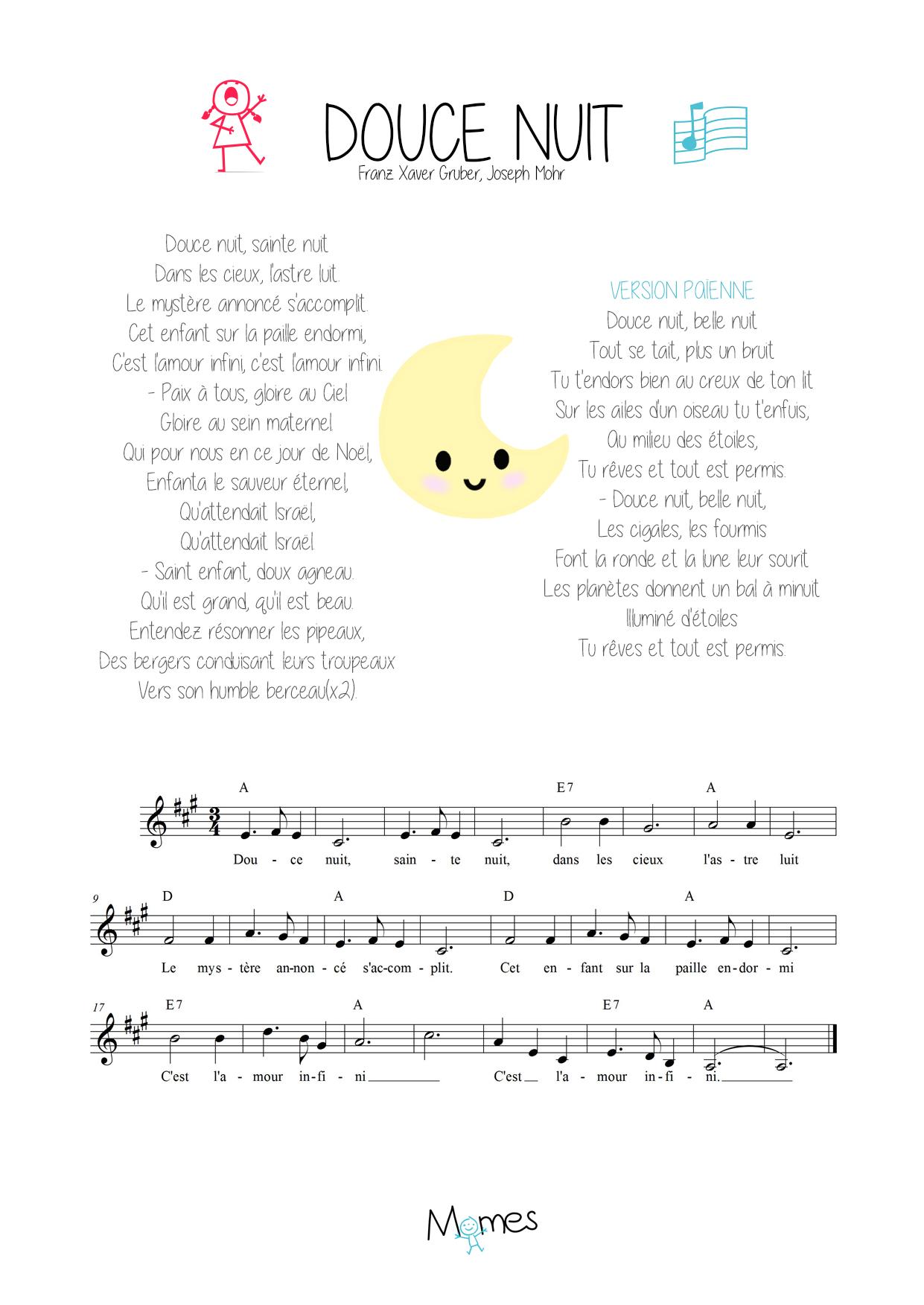 chant de noel douce nuit en anglais