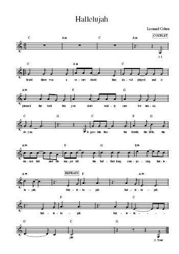 chant de noel hallelujah