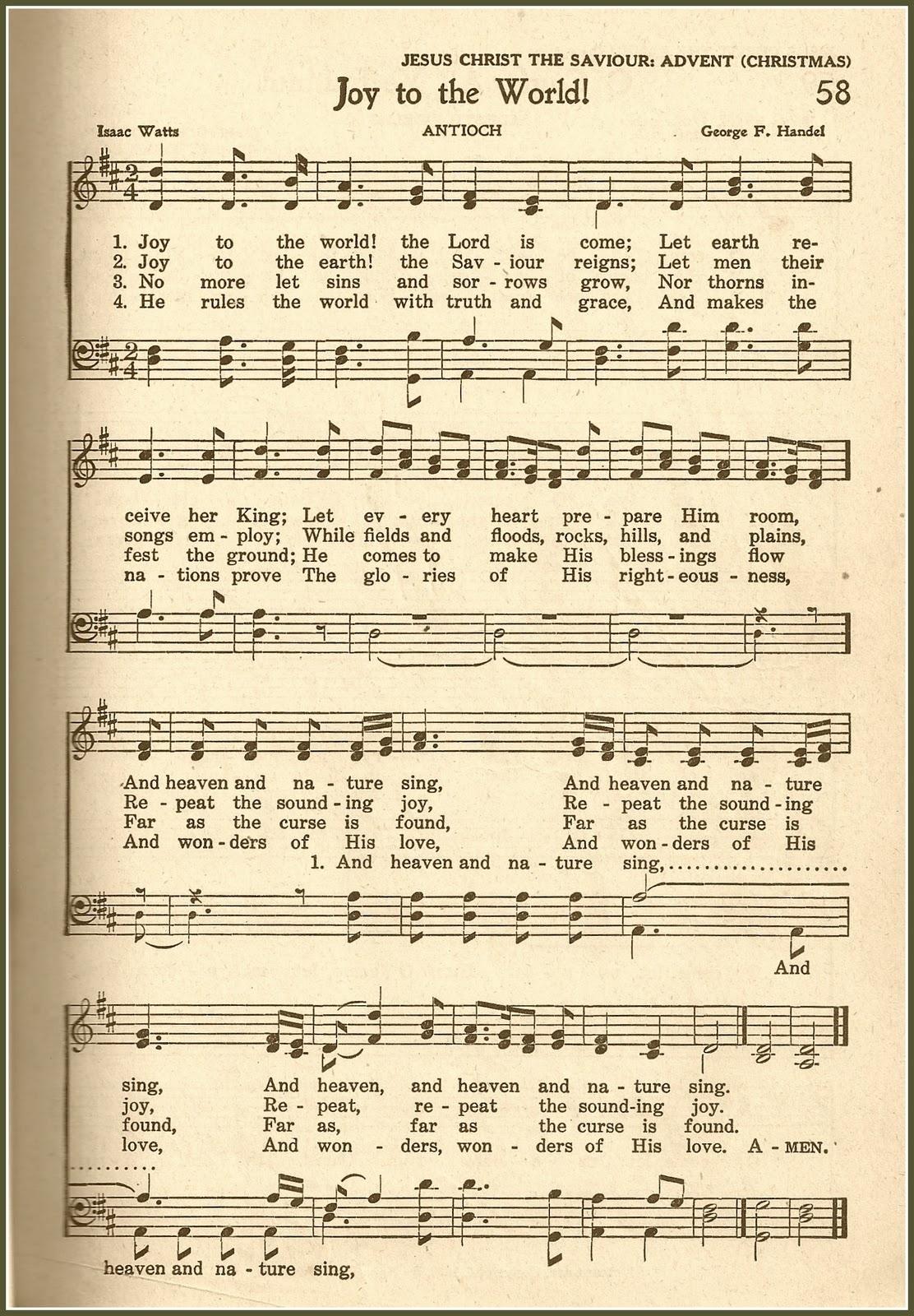chant de noel joy to the world