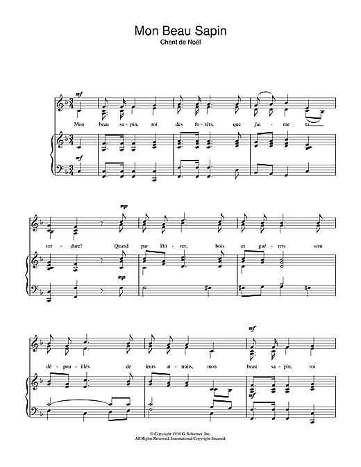 chant de noel partition