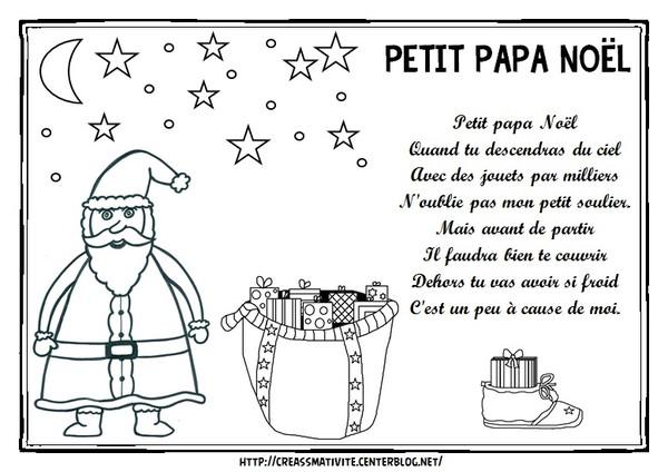 Chant De Noel Petit Papa Noel Parole