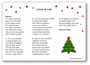 chant de noel petite section