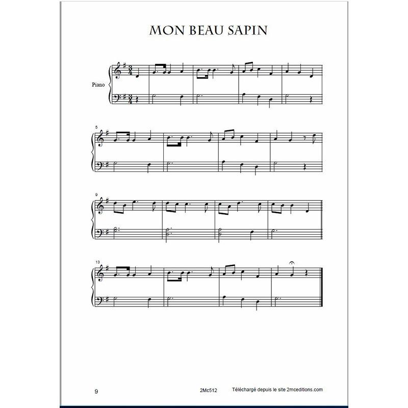 chant de noel piano facile