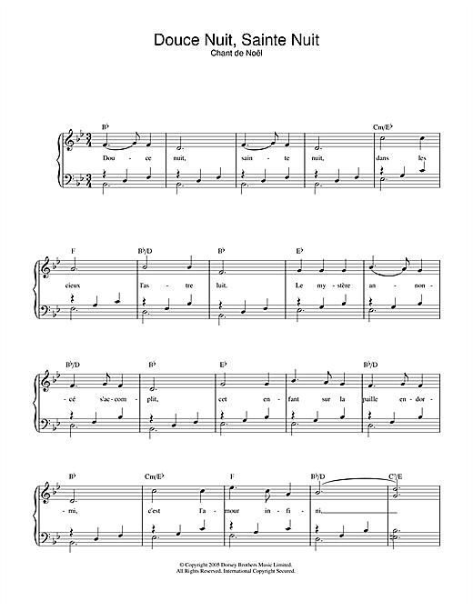chant de noel piano