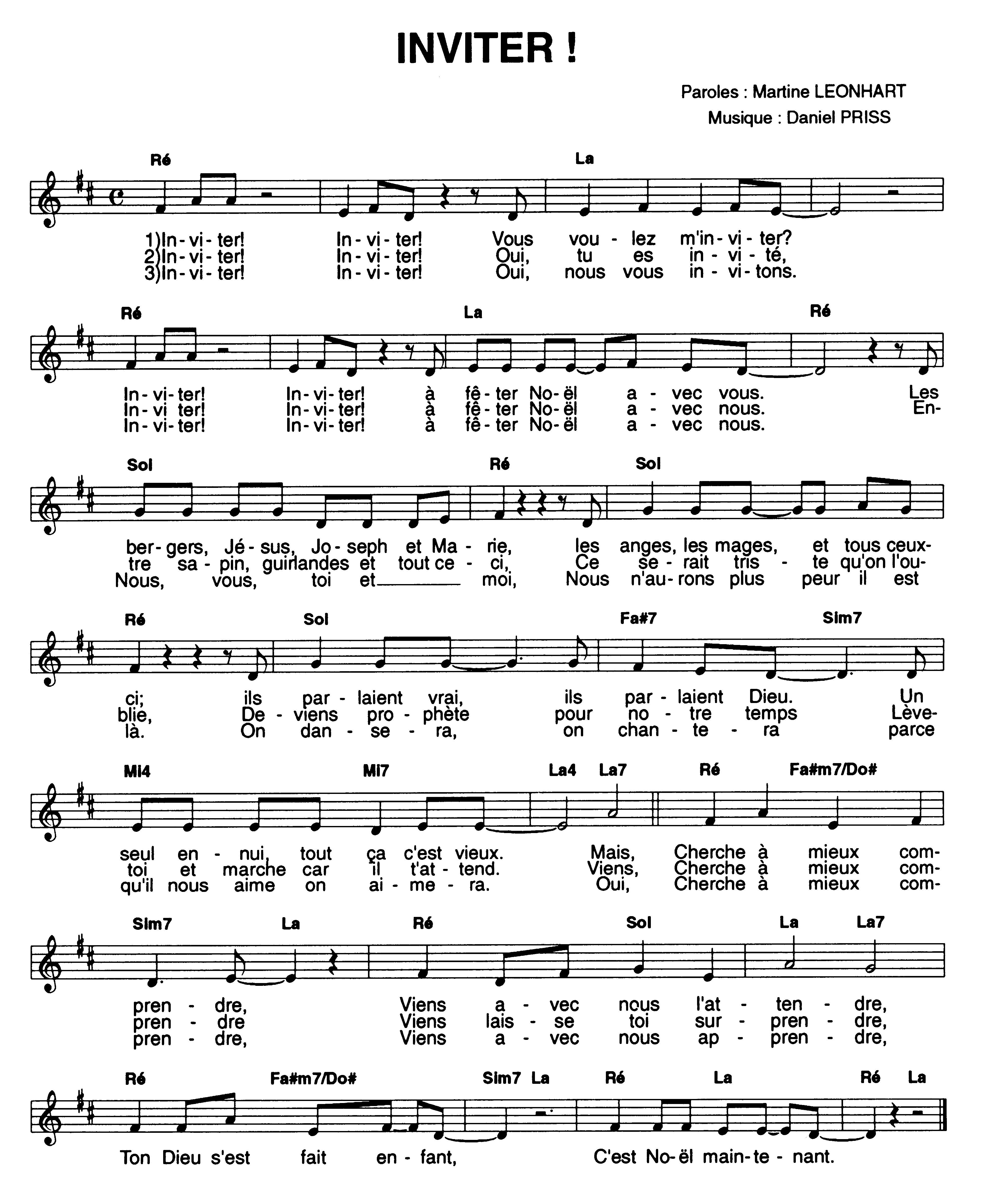 chant de noel pour chorale