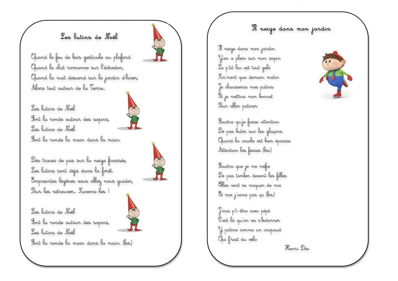 chant de noel pour maternelle