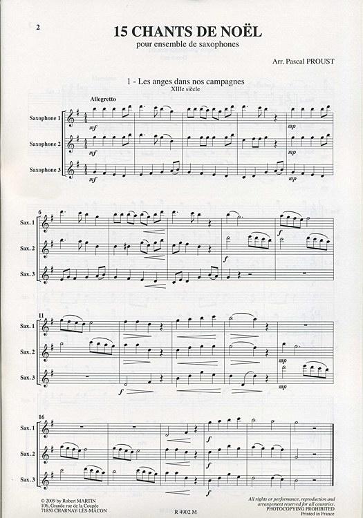 chant de noel saxophone