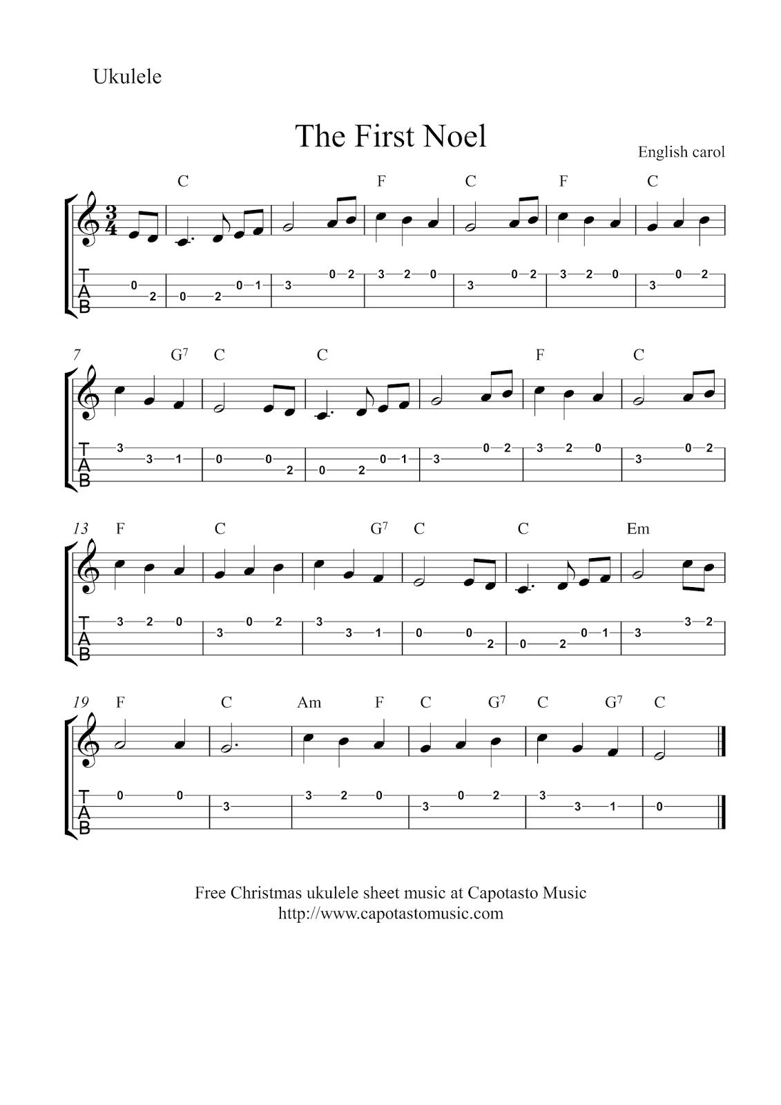 chant de noel ukulele