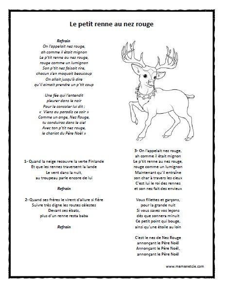 musique de noel le petit renne au nez rouge