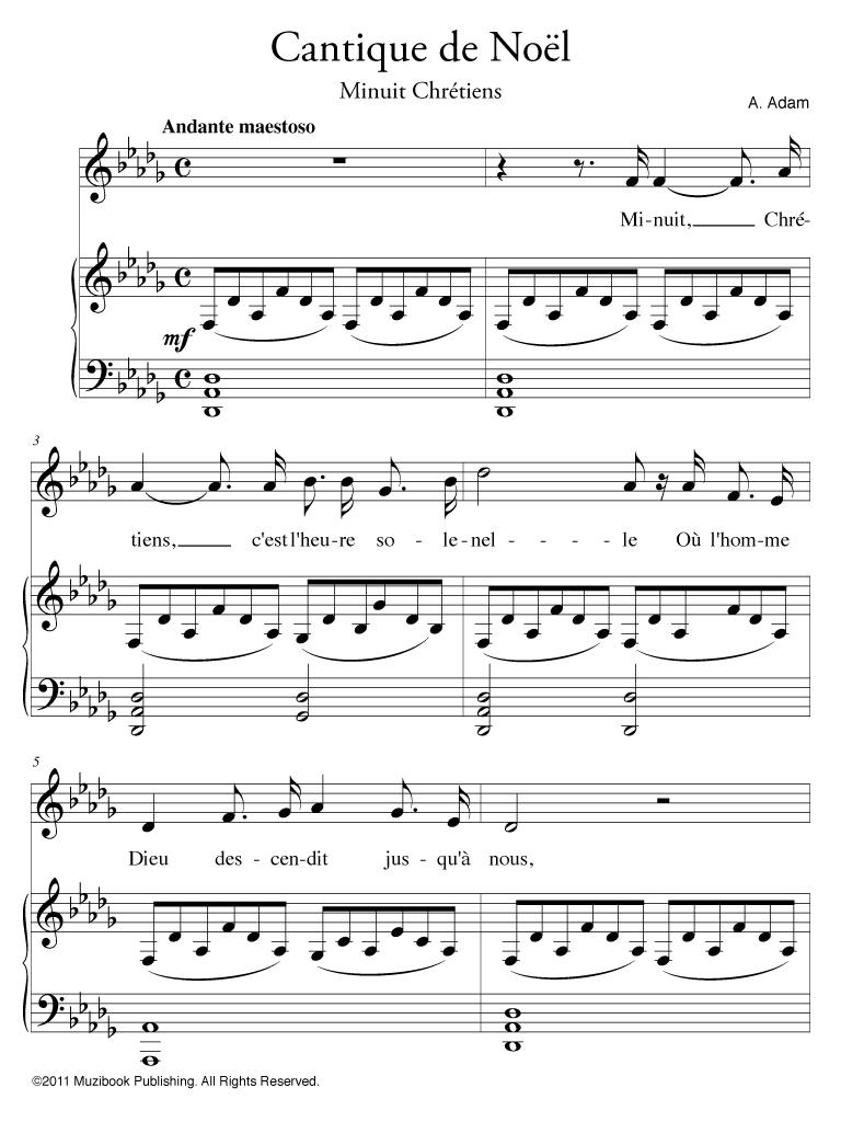 musique de noel piano partition